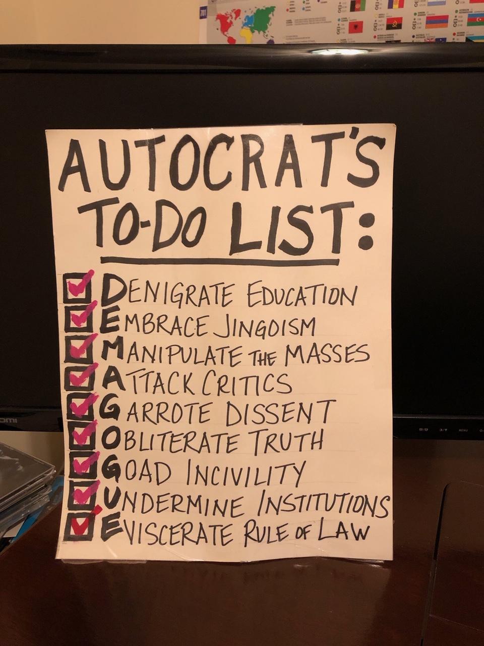 Autocrats ToDo List
